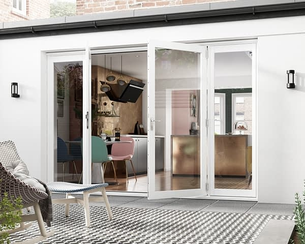 3000mm Icon White French Doors - Open