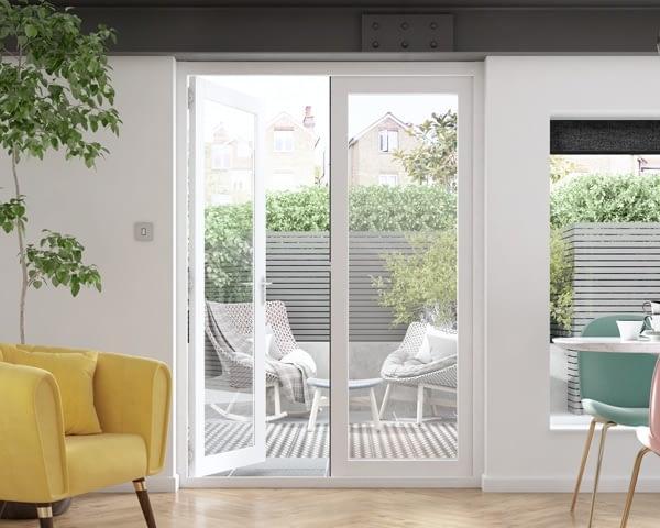 1500mm Icon White French Doors - Internal Shot