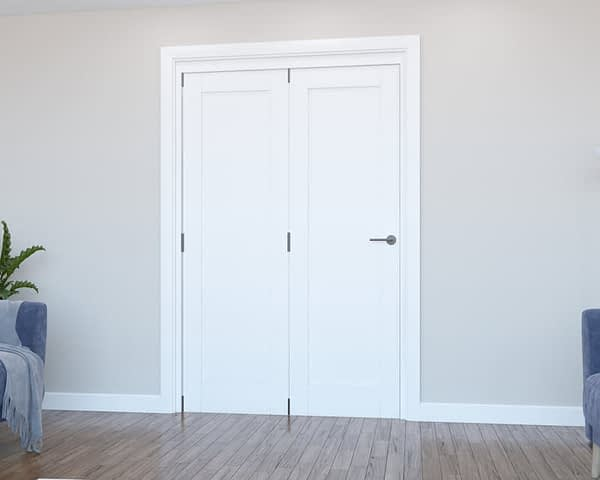 2 Door Vision White Primed 1 Panel Internal Bifold - Closed