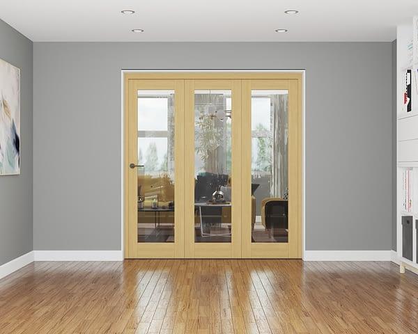 3 Door Affinity Unfinished Oak Internal Bifold