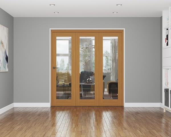 3 Door Repute Fully Finished Oak Internal Bifold