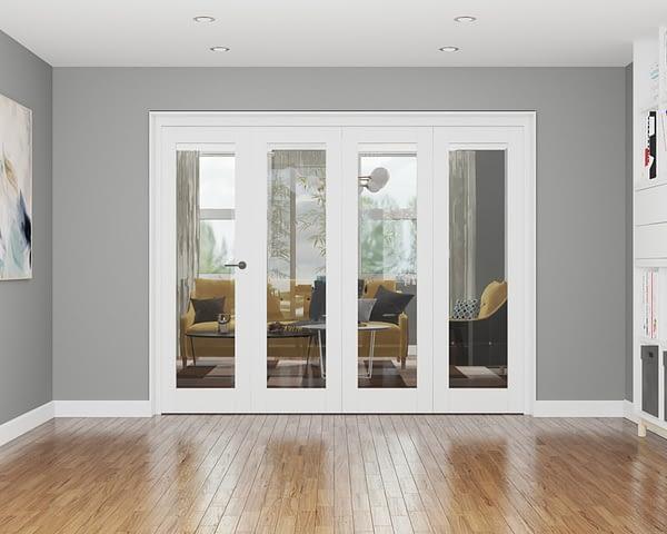 4 Door Repute White Primed Internal Bifold
