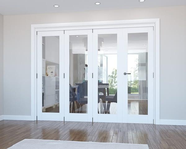 4 Door Vision White Primed Internal Bifold - Closed
