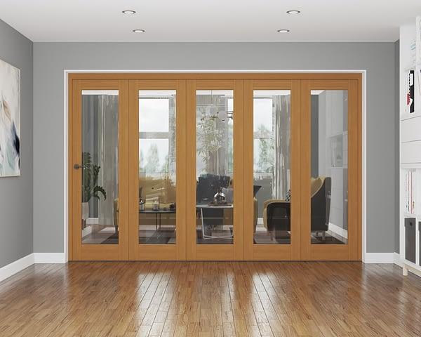 5 Door Repute Fully Finished Oak Internal Bifold