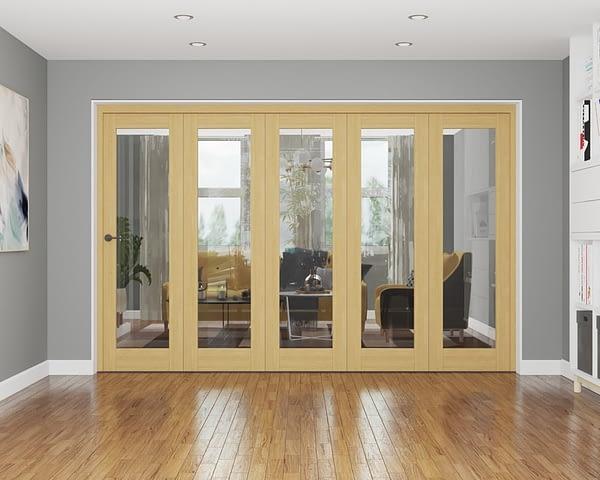 5 Door Repute Unfinished Oak Internal Bifold