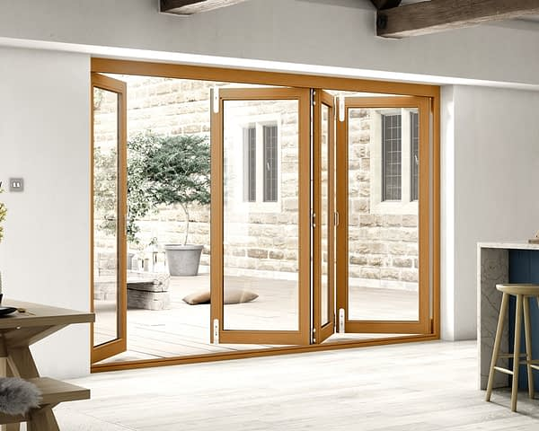 3000mm Icon Solid Oak Fully Finished Bifold - Internal Shot