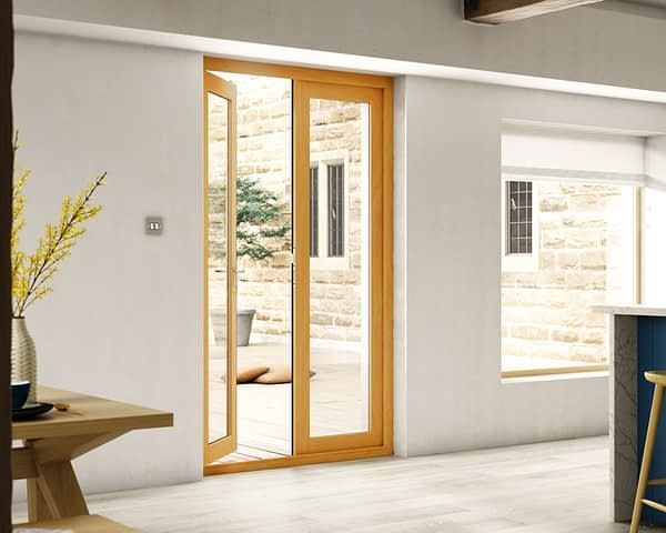 1200mm Evolve Fully Finished French Doors - Internal Shot