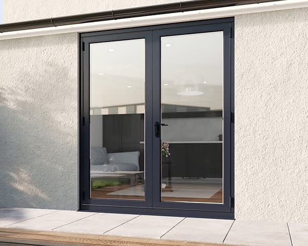 1800mm Revere Grey French - Closed