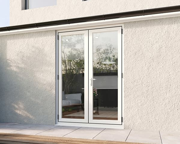 1500mm Revere White French - Closed