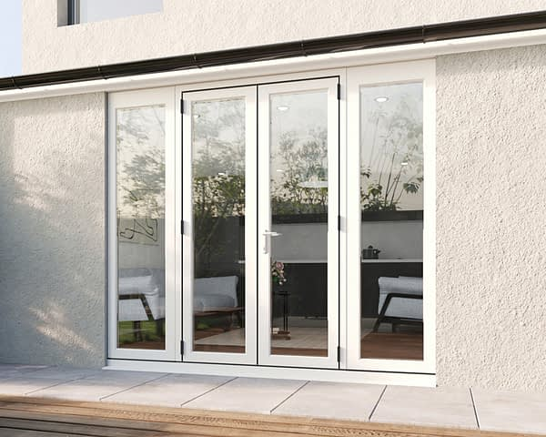 2400mm Revere White French - Closed