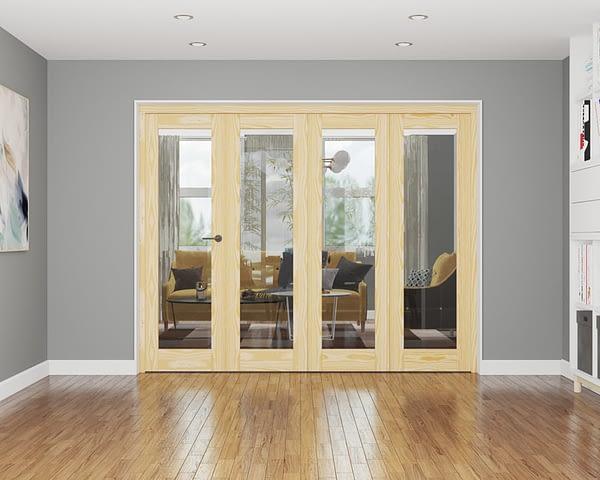 4 Door Affinity Unfinished Pine Internal Bifold