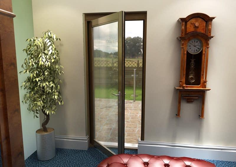 """33"""" Aspect Oak Fully Finished Single Door - Internal Shot"""