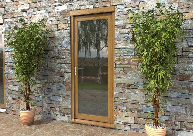 """30"""" Aspect Oak Fully Finished Single Door - External Shot"""