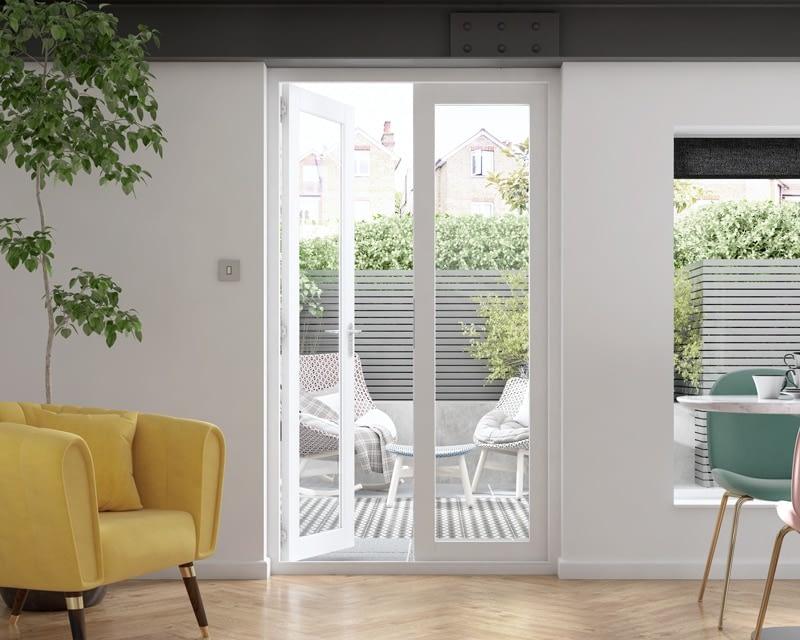 1200mm Icon White French Doors - Internal Shot