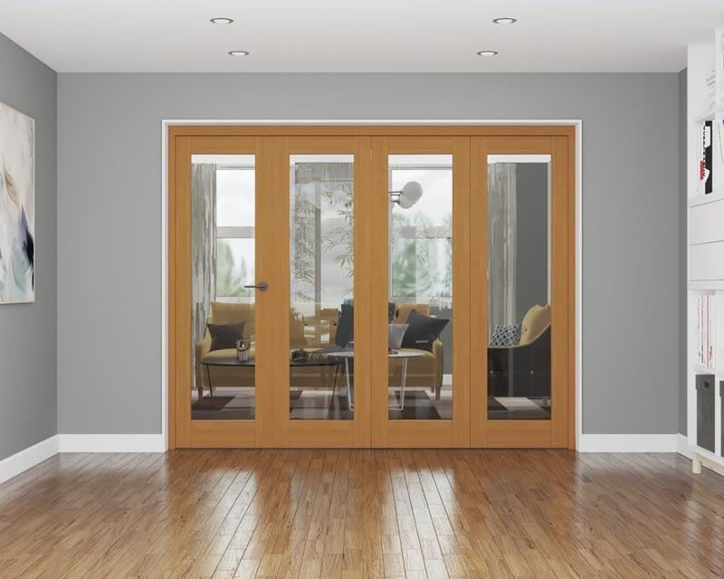 4 Door Affinity Fully Finished Oak Internal Bifold