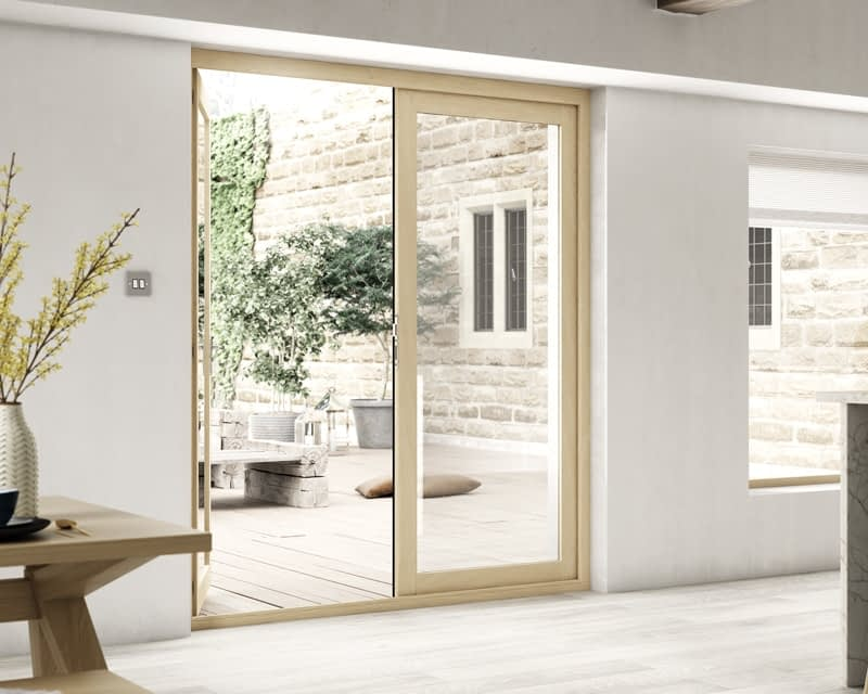 1800mm Icon Part Q Compliant Solid Oak French Doors - Internal Shot