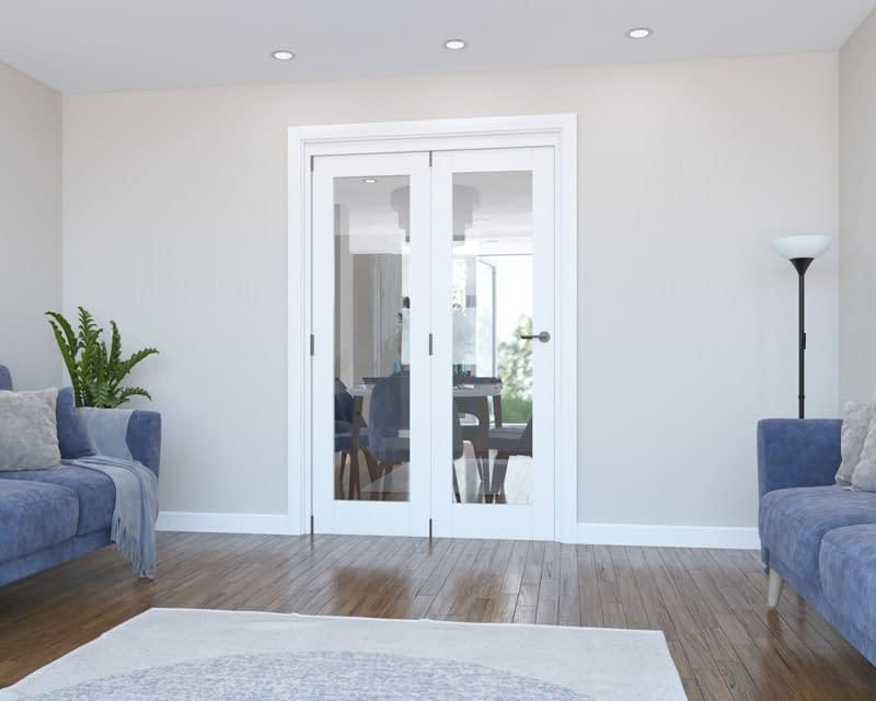 2 Door Vision White Primed Internal Bifold - Closed