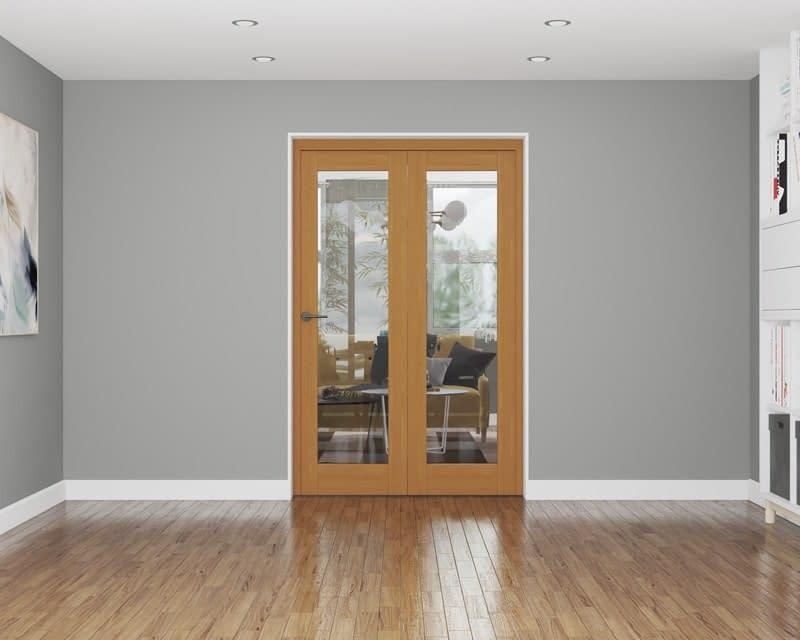 2 Door Affinity Fully Finished Oak Internal Bifold