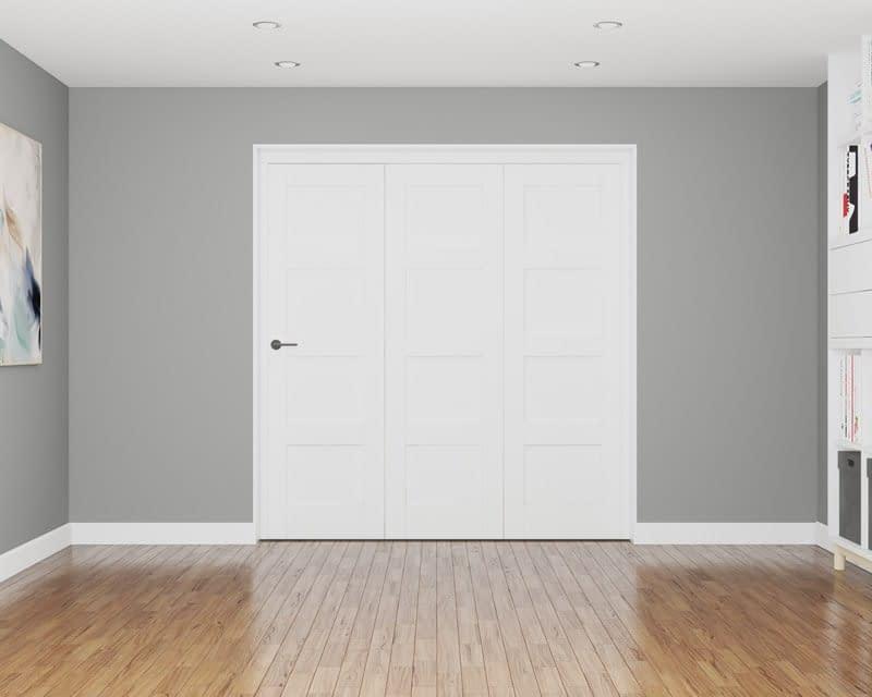 3 Door Repute White Primed 4 Panel Internal Bifold