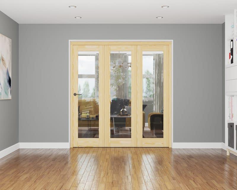 3 Door Affinity Unfinished Pine Internal Bifold