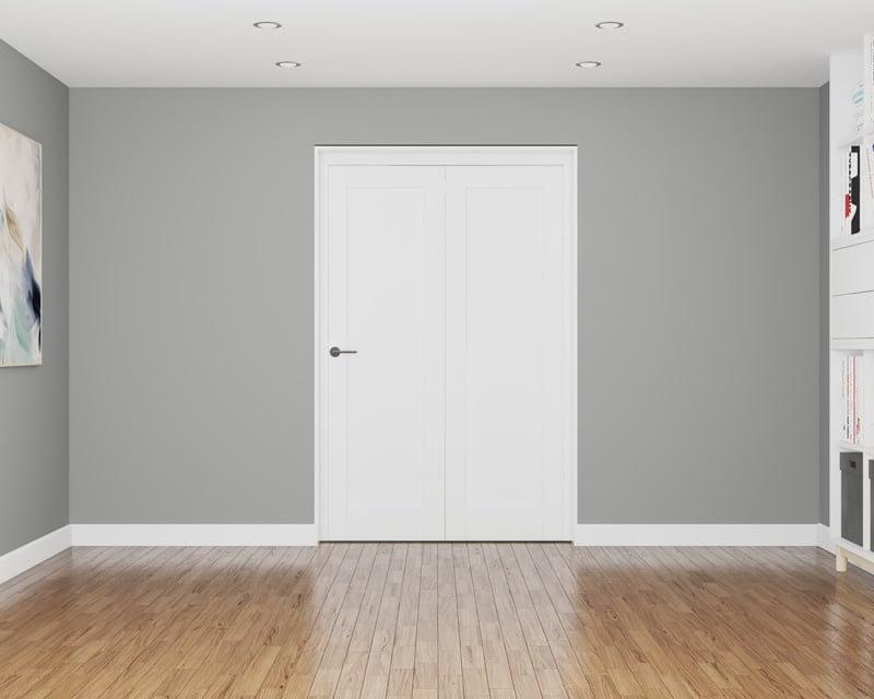 2 Door Repute White Primed 1 Panel Internal Bifold