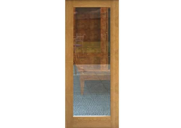 Fully Finished Oak 1 Light Single Internal Door With Clear Glass